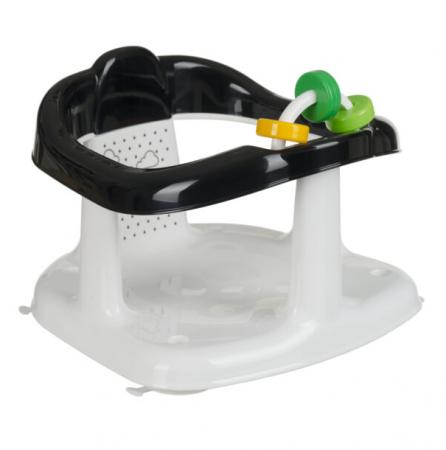 Scaun de baie pentru bebelusi, Imprimeu Panda, 25x30x30 cm, negru [0]