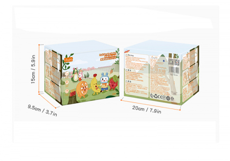 Set 4 jucarii din plus pentru bebelusi si copii, agatatoare, model fructe, Tumama®, multicolor [8]