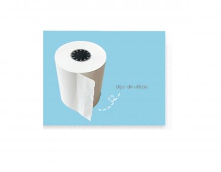 Set 5 role rezerva din hartie termica, compatibile cu Aparat Foto Instant, 55x25 mm, Smartic®, alb [4]