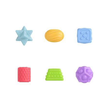 Set 6 piese forme geometrice, Blocuri din silicon, Tumama®0