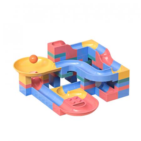 Set blocuri constructie pentru copii, Labirintul Interactiv, +3 ani, 69 piese, material plastic,Tumama®, multicolor [0]