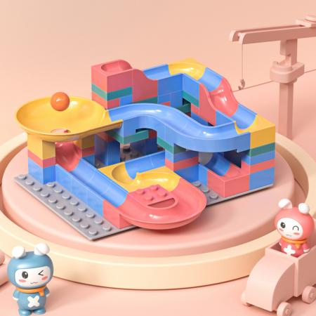 Set blocuri constructie pentru copii, Labirintul Interactiv, +3 ani, 69 piese, material plastic,Tumama®, multicolor [1]