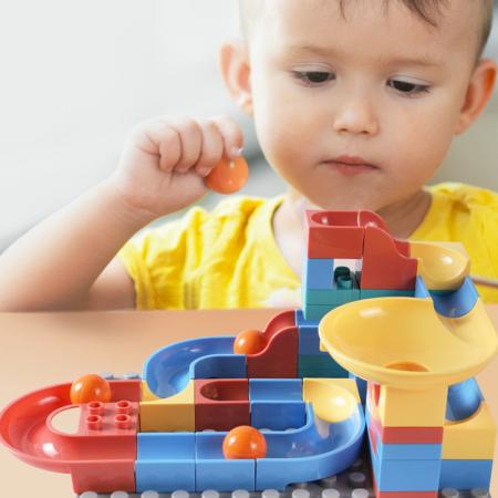 Set blocuri constructie pentru copii, Labirintul Interactiv, +3 ani, 69 piese, material plastic,Tumama®, multicolor [2]