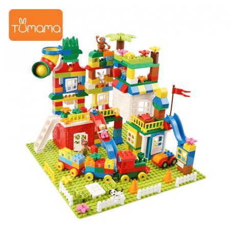 """Set blocuri de constructie """"Orasul meu"""", multiple activitati, 225 piese, Tumama®, multicolor [1]"""