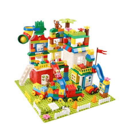 """Set blocuri de constructie """"Orasul meu"""", multiple activitati, 225 piese, Tumama®, multicolor [0]"""