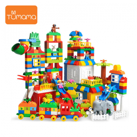 """Set blocuri de constructie """"Orasul meu"""", multiple activitati, 225 piese, Tumama®, multicolor [2]"""