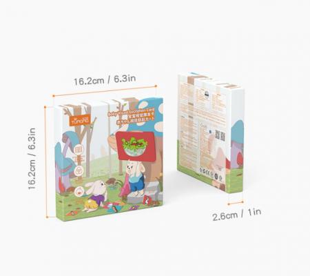 Set cartonase asociere 2 in 1 Tumama® pentru bebelusi si copii, Material Carton, Ilustratii litere, cifre, forme geometrice, 40 piese, alb/negru [9]