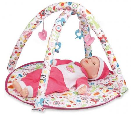 Set copii interactiv cu papusa bebelus si accesorii: tarc, carucior, suport bebe, geanta, covoras, SMARTIC®, multicolor4