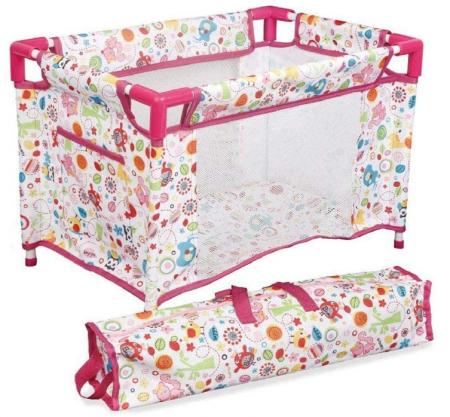 Set copii interactiv cu papusa bebelus si accesorii: tarc, carucior, suport bebe, geanta, covoras, SMARTIC®, multicolor1