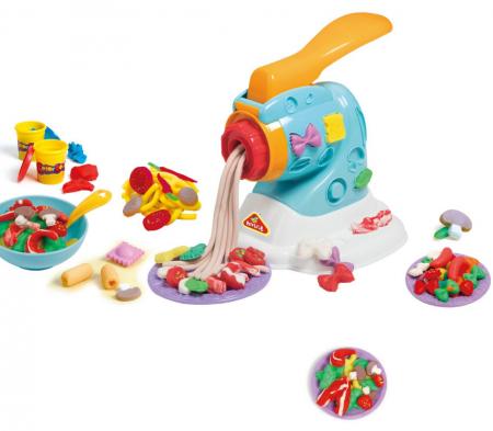 Set copii Masina de facut paste cu plastilina si accesorii, SMARTIC®, multicolor2