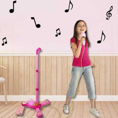 Set interactiv Karaoke, cu microfon, suport si lumini, SMARTIC®, melodii incluse2