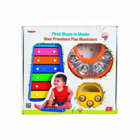 Set Interactiv pentru Bebelusi Instrumente Muzicale, Xilofon + 2 Tamburine, +12 Luni, Multicolor [5]