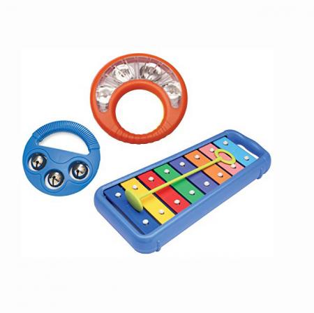 Set Interactiv pentru Bebelusi Instrumente Muzicale, Xilofon + 2 Tamburine, +12 Luni, Multicolor [0]