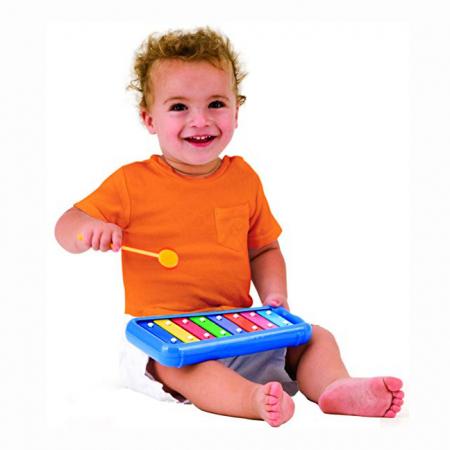 Set Interactiv pentru Bebelusi Instrumente Muzicale, Xilofon + 2 Tamburine, +12 Luni, Multicolor [4]