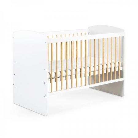 Set mobilier 3 piese Patut, Comoda si Saltea pentru camera copiilor si bebelusilor, alb [1]