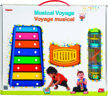 Set muzical xilofon,zornaitoare mini rainbomaker si zornaitoare clopotel pentru bebelusi [1]