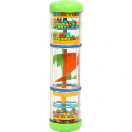 Set muzical xilofon,zornaitoare mini rainbomaker si zornaitoare clopotel pentru bebelusi [4]