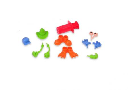 Set plastilina cu accesorii Fete vesele, SMARTIC®, multicolor3