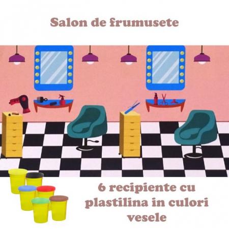 Set plastilina Fetita la coafor, cu accesorii, SMARTIC®, multicolor1
