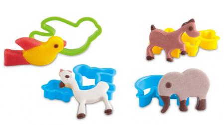 Set plastilina My little animals, SMARTIC®, cu accesorii, multicolor [2]