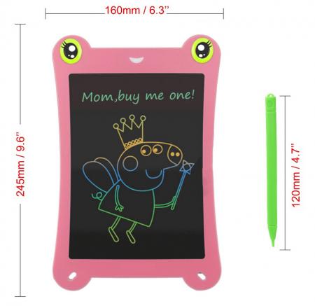 Tableta Grafica pentru Copii, SMARTIC, 8.5 inch, model Broscuta, Roz2