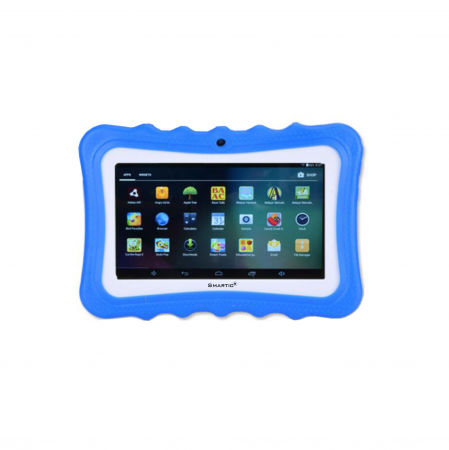 "Tableta portabila pentru copii, Display 7"" Quad-Core Android 10, Wi-Fi, Bluetooth 4.0, 1GB RAM, 8G ROM, HD Dual Camera, Touch Screen, Smartic®, albastru [0]"