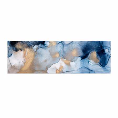 Tablou Canvas Abstract, Panza, Material Textil si Bumbac, 120 x 40 cm, Multicolor [0]