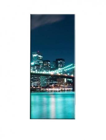 Tablou Nachic Wall,New York Art, View Night, Set 5 piese, 30 x 50 , 30 x 70, 30 x 80 , Material Panza, Tema Natura, Multicolor [4]