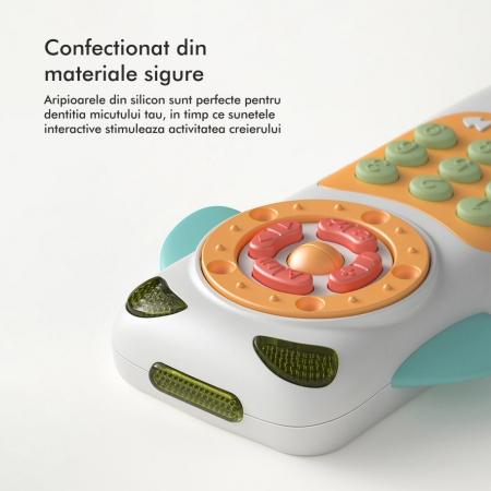 Telefon muzical  interactiv cu peste 100 de sunete educative pentru copii, alb, Tumama®1