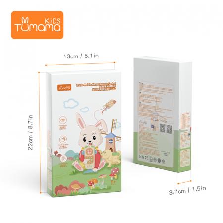 Telefon muzical  interactiv cu peste 100 de sunete educative pentru copii, alb, Tumama®8