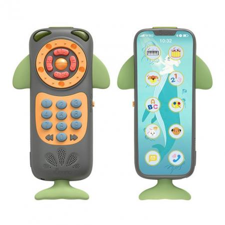 Telefon muzical interactiv Tumama® cu peste 100 de sunete educative pentru copii, negru0