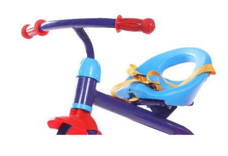 Tricicleta pentru copii, cadru metalic, cos depozitare si scaun reglabil cu centura, SMARTIC®, albastru1
