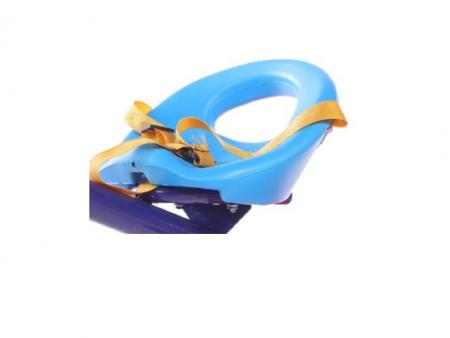Tricicleta pentru copii, cadru metalic, cos depozitare si scaun reglabil cu centura, SMARTIC®, albastru2
