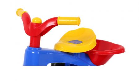 Tricicleta plastic cu pedale si claxon, SMARTIC®, multicolora2