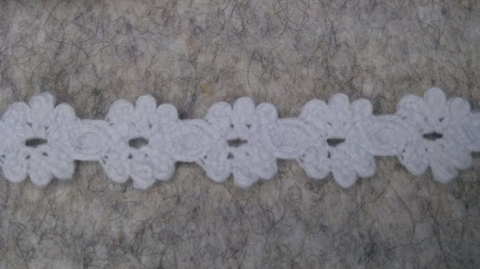 Dantela alba din bumbac 1.5 cm latime [0]