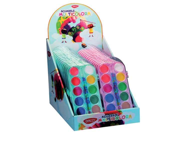 Acuarele 12 culori Multicolora Daco [0]