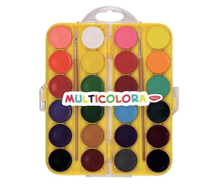 Acuarele 24 culori Multicolora Daco [0]