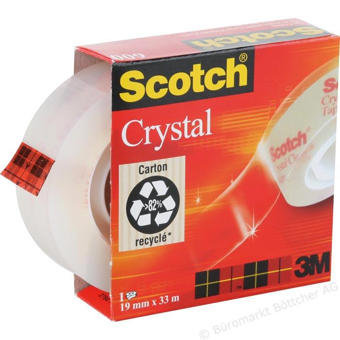 Banda adeziva transparenta 19mmx33m Scotch 0