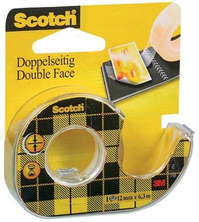 Banda dublu adeziva cu dispenser 12mmx6.3m Scotch 0