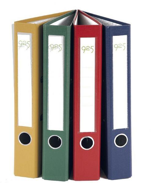 Biblioraft 5cm PP A4, buzunar, margine metalica 0