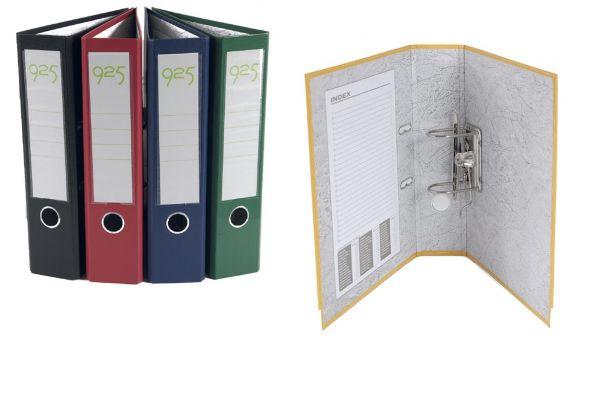 Biblioraft 7.5cm PP A4, buzunar, margine metalica 0
