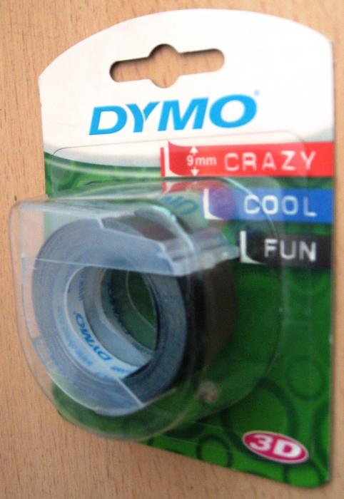 Blister 2x Dymo banda 9mm*2m negru [0]