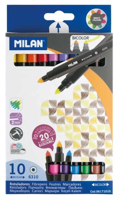 Carioca 10 culori bicoloră Milan 0