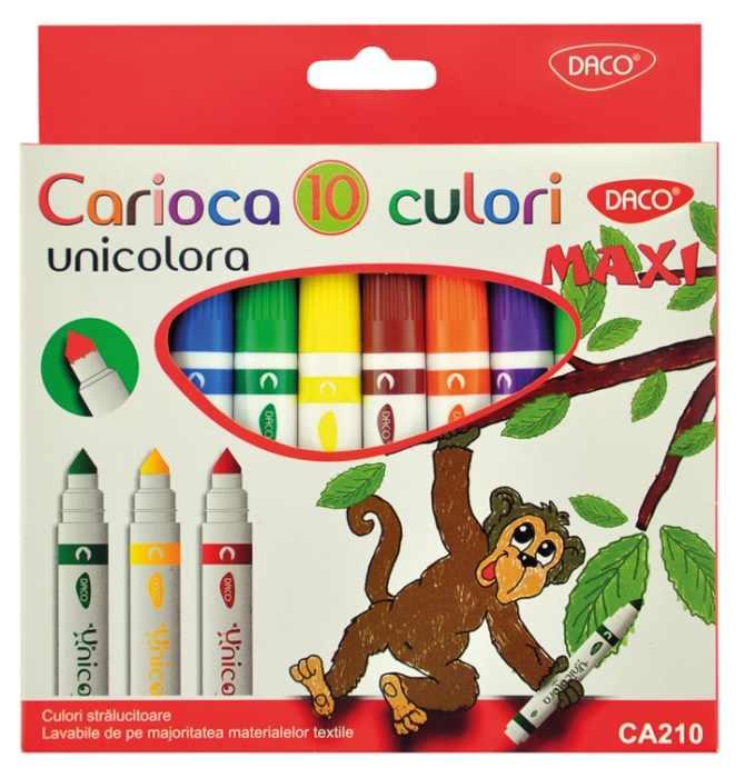 Carioca 10 culori Maxi Unicolora Daco 0