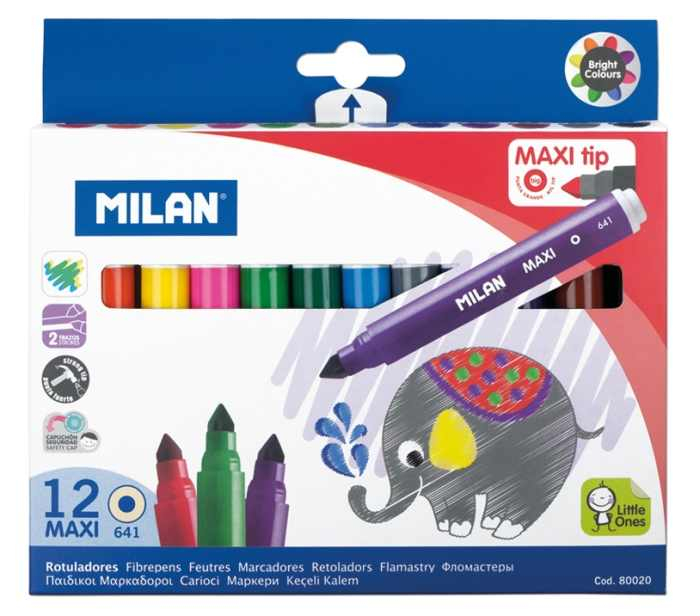 Carioca 12 culori MAXI Milan [0]