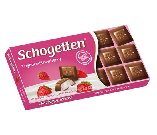 Ciocolata Schogetten Iaurt-Capsuni 100g [0]