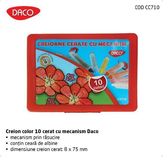 Creioane cerate cu mecanism Daco, 10culori [0]