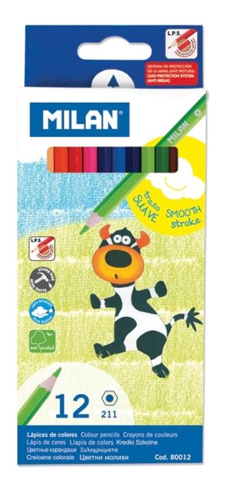 Creion color 12 culori Milan 0