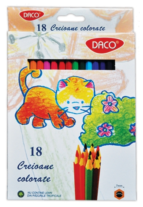 Creion color 18 culori Daco 0