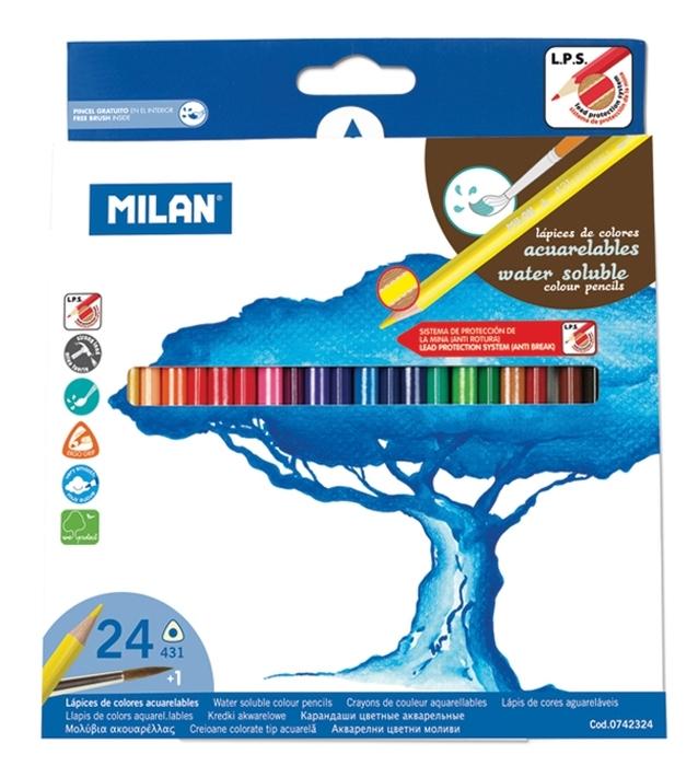 Creion color 24 acuarela Milan [0]